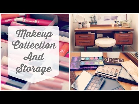 My Makeup Collection & Storage | Zoella