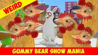 """""""Funny Easter Bunny"""" with a 🐔CHICKEN 🐔INVASION 🐔 - Gummy Bear Show MANIA"""