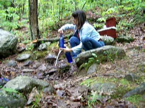 Clean, natural, Spring Water in Brimfield State Forest, Brimfield, MA - PART 1 of 3