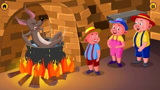 The Three Little Pigs - Big Bad Wolf Animated Song and Lyrics - Fairy Tales for Children