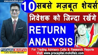 10 सबसे मज़बूत शेयर्स  Return Analysis | Latest Share Market Tips | Latest Share Market Videos