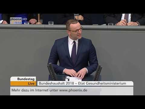 Rede von Jens Spahn zum Etat für Gesundheit am 18.05.18