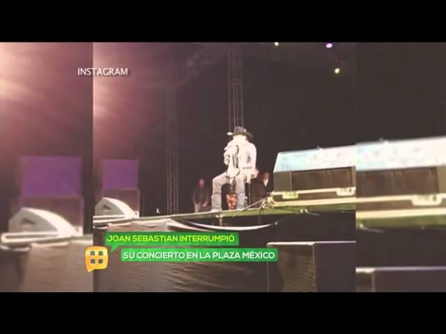 Joan Sebastian es sacado en brazos del escenario