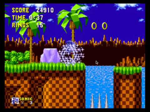 Sonic the Hedgehog - Sonic the Hedgehog (GEN) First Stage HD - Vizzed.com Play - User video