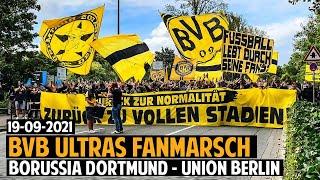 Dortmund-Ultras Fanmarsch   Borussia Dortmund - Union Berlin 19.09.2021  BVB-FCU