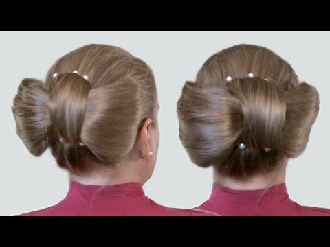 прически для длинных волос бант видео