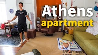 Living in Greece - ATHENS APARTMENT TOUR | $78.67 Per Night!
