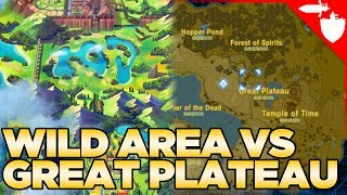 Which is Bigger? The Wild Area VS The Great Plateau - Breath of the Wild VS Pokemon Sword and Shield