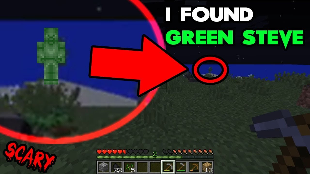 I Found Green Steve on this Minecraft Seed (Scary Minecraft Video)
