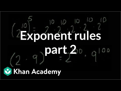 Exponent rules part 2   Exponents, radicals, and scientific notation   Pre-Algebra   Khan Academy
