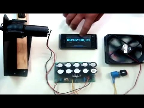 Homemade Generator Dynamo Charge Supercapacitor Using a DC Hand Crank Diy®