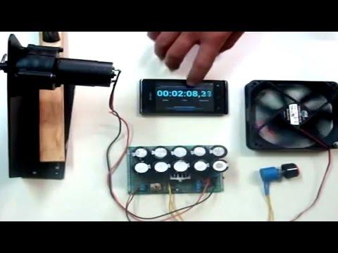 Homemade Generator Dynamo Charge Supercapacitor Using a DC Hand Crank Diy®