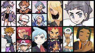 Pokémon Compilation: All Champion Battles【RBY - USUM】[HQ]