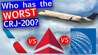 Delta, American, and United CRJ200 Regional Jet Comparison