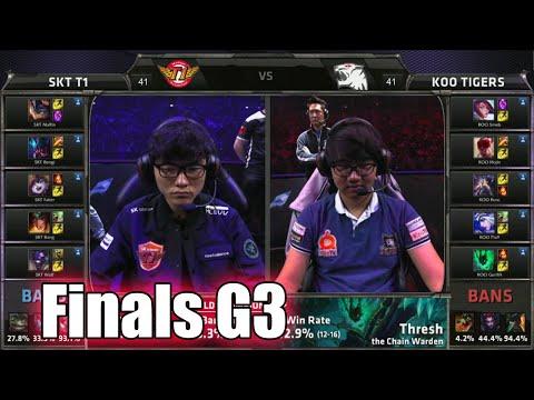 SK Telecom T1 vs KOO Tigers | Game 3 Grand Finals LoL S5 World Championship 2015 | SKT vs KOO G3