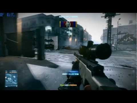 Battlefield 3 - Sniper Gameplay on EVGA GTX 460 【HD】