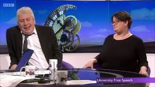 Batshit crazy Feminist owned in interview on UK Univerisities