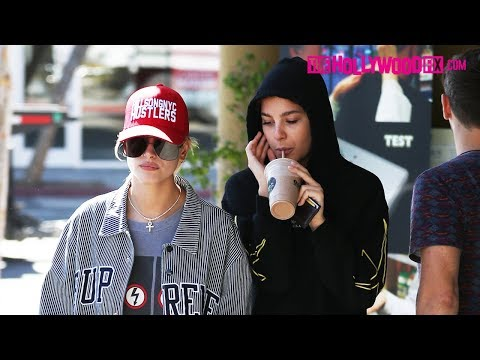 Hailey Baldwin, Camila Morrone & Isabella Peschardt Stop For Smoothies At Earthbar In West Hollywood