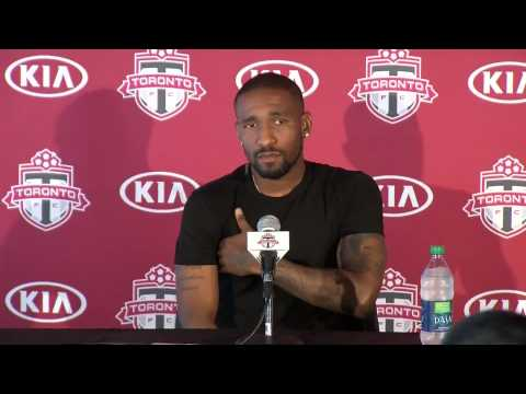 Jermain Defoe Addresses Media - September 24, 2014
