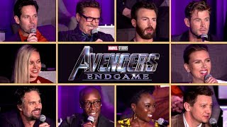AVENGERS: ENDGAME Full Cast Interview Conference (2019) Marvel Movie HD