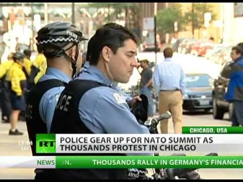 Police gear up in Chicago as thousands join anti-NATO rallies