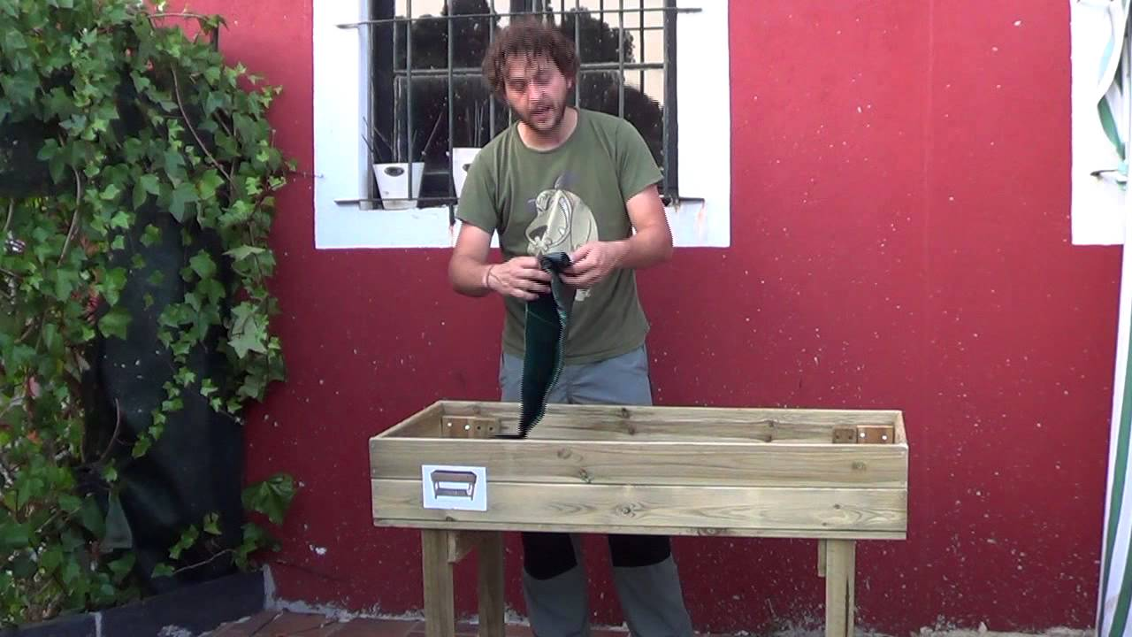 Como montar una mesa de cultivo huerto urbano la huertina de toni youtube - Drenaje mesa de cultivo ...