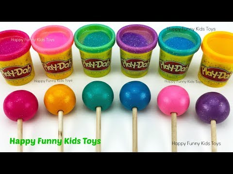 Play Doh Molds Surprise Toys Learn Colors with Modelling Clay and Toys for Kids