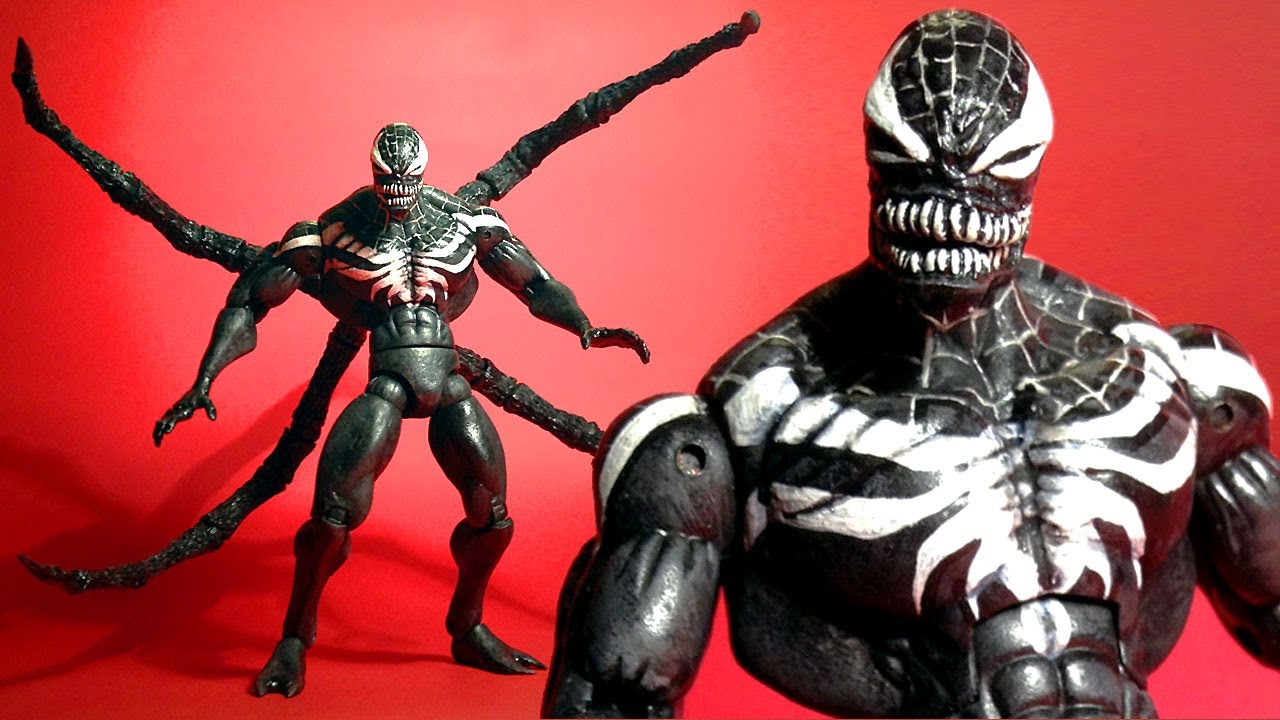superior venom marvel legends custom action figure youtube