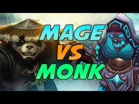 Frost Mage vs Monk Duels Mists of Pandaria Patch 5.2 PvP Gameplay / Commentary