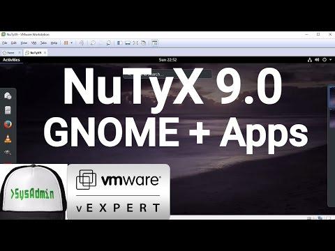 NuTyX Linux 9.0 Installation + GNOME Desktop + Apps + VMware Tools on VMware Workstation [2017]