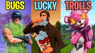 BUGS vs LUCKY vs TROLLS! Fortnite Battle Royale Funny Moments