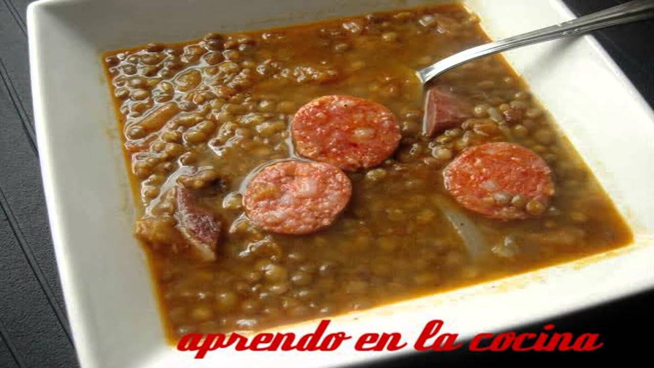 Lentejas Con Jamon Lentejas Con Jamón y Chorizo