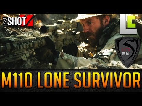 THE LONE SURVIOR - ULTIMATE DMR ARES M110 500FPS MIRACLE BARREL W/ LEVELCAP - 12MM RAGECAMS