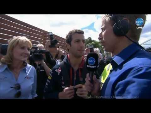Daniel Ricciardo LIVE Interview BEFORE Disqualification Pre-Melbourne Grand Prix 2014