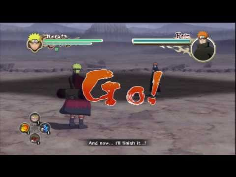 Naruto Ultimate Ninja Storm 2 - Naruto VS Pain (Story Battle S-Rank Part 1)