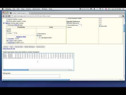 Y-Utility: Y-DNA Comparison Utility, FTDNA Mode   الحاسبة