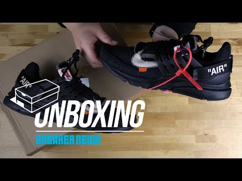 "Unboxing The OFF-WHITE x Nike Presto ""Black"""