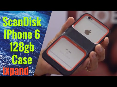 SanDisk iXpand Memory Case for iPhone 128gb first look and review 2016