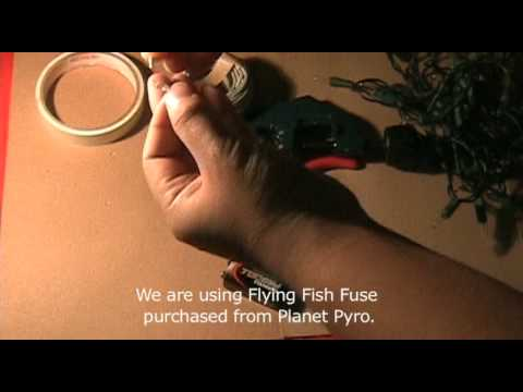 Do it yourself Homemade Electric Fuse Ignitor for Pyro/Fireworks