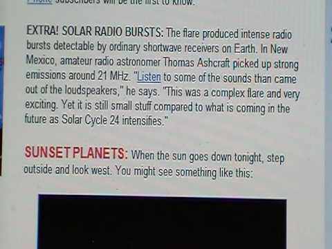 Spaceweather Update 08 Aug 2010 (Solar Blast Just Misses Earth)