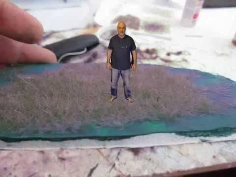 Make Tall Diorama Grass with Electrostatic Flocking