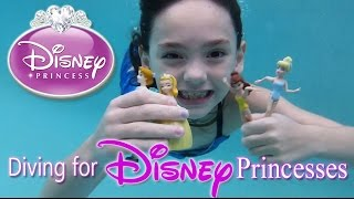 Diving for Disney Princess Dolls Girl Swimming Playing in Pool
