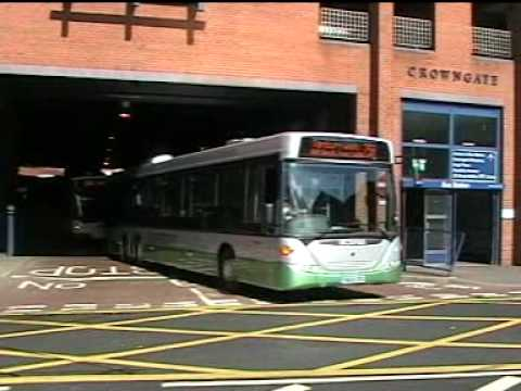 Some buses in Worcester.