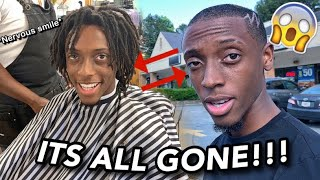 HUGE MAKEOVER!!!! CUTTING OFF ALL MY FREEFORM DREADS!!😭