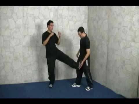 Kung Fu Kick Training Tutorial How To Kung Fu Side Kick In Close Distance Kungfu Kicking