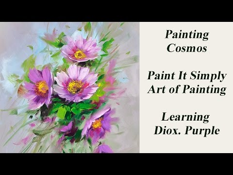 Painting Cosmos with Diox  Purple