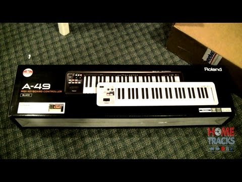 Home Studio - Roland A49 USB MIDI Keyboard Unboxing, Studio One Install, Review