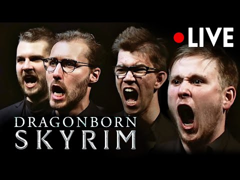 SKYRIM Dragonborn Theme LIVE [4K] CHOIR & ORCHESTRA CONCERT   Music from OST Soundtrack(Dovahkiin)