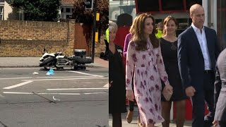 William and Kate's Motorcycle Escort Hits Woman
