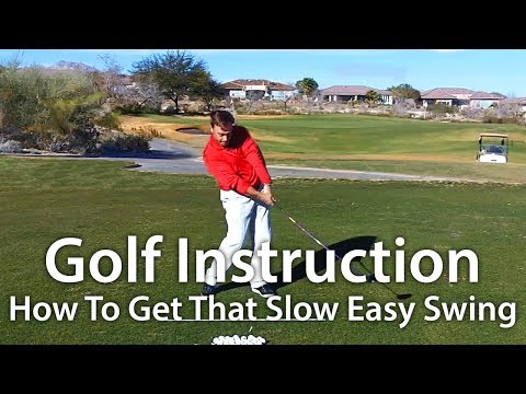 Golf Instruction - How To Get That Slow Easy Swing Music Videos